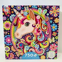 Ceaco Groovy Animals Unicorn Jigsaw Puzzle 750 Piece Made In USA