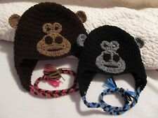 Crochet Gorilla or Monkey Hat/Beanie - Made to Order - Baby to Adult Sizes
