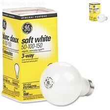 12 Bulbs Three-Way Soft White Incandescent Bulb, 50/100/150 Watts New