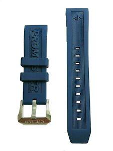 Original Citizen Promaster Aqualand 22mm BN2038-01L Blue Rubber Watch Band Strap