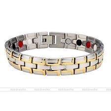 Stainless Steel 4 in 1 Magnetic Germanium Therapy Power Energy Bracelet Chain
