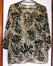 MILLERS Sz 18 OLIVE GREEN / TAN / GRAY TUNIC / TOP plus CAMI (VGC)