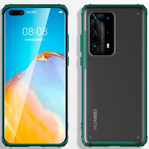 For Huawei P40 P50 Pro P30 Lite Shockproof Hybrid TPU Bumper Matte PC Cover Case