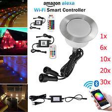 WIFI BT RGB/RGB+Warmweiß Boden Einbaustrahler LED Leuchte Außenlampe Minispot
