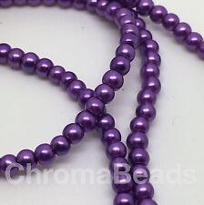 3mm Perles de verre synthétique Strand-Violet (230 + Perles) Bijoux Making, Craft