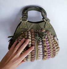 Savoy Crochet Knitted Purse/Bag with Leather Handles