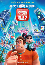 Ralph Breaks the Internet 2018 Korean Mini Movie Posters Movie Flyers (A4 Size)