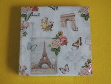 20 Servietten PARIS monuments 1 Packung OVP Eifelturm rosen Schmetterling Ambien