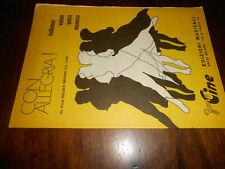 spartiti musicali -vintage-CON ALLEGRIA! -ED.MUS.FONO CINE