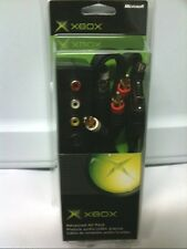 NEW OFFICIAL MICROSOFT OEM ORIGINAL XBOX ADVANCED AVS AV  S-VIDEO CABLE PACK