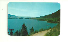 LAKE KALAMALKA ALONG OKANAGAN CARIBOO HWY, BRITISH COLUMBIA, CHROME POSTCARD