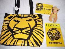 THE LION KING Tote Bag , Playbill & Card , Simba Plush  Disney Broadway Musical