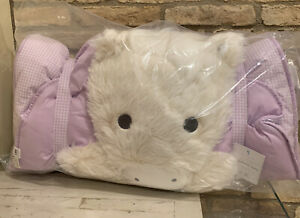 Pottery Barn Kids Shaggy UNICORN Lavender Sleeping Bag New No Mono