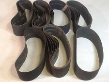 SILICON CARBIDE CLOTH BELT MIXED LOT OF 24 Waterproof 80-600 Grit