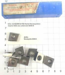 8 St. 4.21503R612 P25 Hertel Wendeplatten Inserts NOS neu unbenutzt B384-8