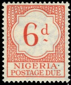 """NIGERIA J4 (SG D4) - Numeral of Value """"Postage Due"""" (pf75072)"""