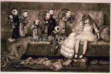 Dream-land Cd Weldon Sj Ferris 1883, 7x4 Pulgadas reimpresión Niño Dormido Y Muñecas