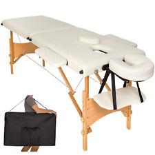 Table banc 2 zones lit de massage pliante cosmetique esthetique beige + sac NEUF