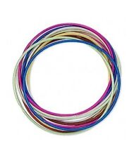 4 sets x 12 each = 48 Smooth Steel Coil STRETCH Bracelets MIXED Colors 2mm