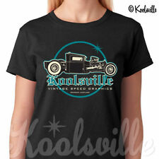 Rockabilly Cotton Short Sleeve Regular T-Shirts for Women