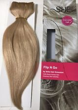 *New* SHE by Beyond The Beauty Flip N Go Human/Remy/Halo Hair Extensions #24