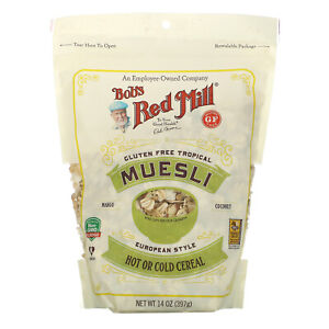 Bob s Red Mill Muesli Gluten Free Tropical 14 oz 397 g Gluten-Free, Kosher