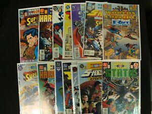 DC/Milestone Worlds Collide Part 1-14 Complete Set Superman Static Hardware Icon