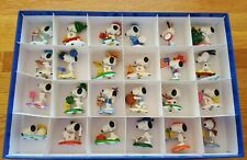 Rare Danbury Mint Charlie Brown Snoopy Figurine Collection Complete Set