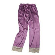 Women Faux Silk Lace Pants Satin Trousers Sleepwear Pyjama Bottoms Nightwear