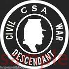 "CONFEDERATE CSA CIVIL WAR DESCENDANT WINDOW DECAL 3.5"" FREE CONFEDERATE STICKER"
