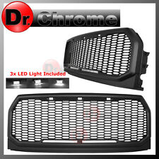 15-17 2017 Ford F150 F-150 ABS White LED Raptor Style Mesh Packaged Grille Grill