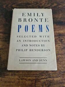 Emily Bronte - Poems - Philip Henderson - Lawson and Dunn - HB - 1947 - 1st Edi