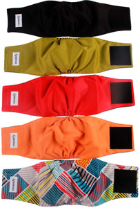 Male Dog Belly Bands Washable Leakproof Puppy Diapers Wrap Sanitary Pants 5pcs