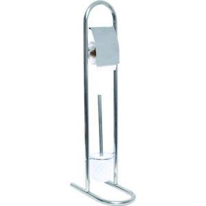 Evideco  Toilet Bowl Brush Holder and Toilet Paper Roll Dispenser Stand