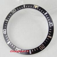 CARVING 38mm luminous marks black Aluminum bezel insert for 40mm sub mens watch