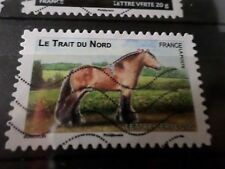 FRANCE 2013, timbre  AUTOADHESIF 816 CHEVAL TRAIT NORD HORSE oblitéré, VF STAMP