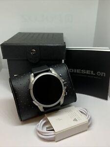 Diesel Gen 4 DZT2008 Men's Black Leather Digital Dial Genuine SmartWatch JAA41