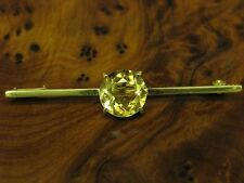830 Silver Brooch with Citrine Decorations/Gold Plated / Real Silver/3,1g