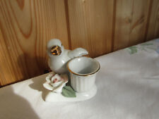 Kerzenhalter mit Ente und Blume, Keramik