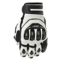 RST Tractech Evo CE Short Motorcycle Motorbike Leather Gloves Black / White