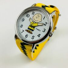 Men's Timex Weekender X Peanuts Yellow Charlie Watch TW2R41100 TW2R41100JT