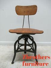 Vintage Toledo Industrial Counter Swivel Bar Stool Chair def