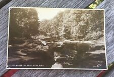 Old Rppc Real Photo Bolton Woods Valley Of The Strid Yorkshire Uk Postcard 1928