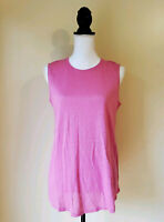 J Jill Love Linen Womens Top Tank 100% Linen sleeveless Tunic Pink Size Small