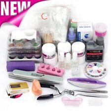 Gel Glitter Brush Clipper Tips Set 48 Acrylic Powder Liquid Nail Art Care kit UV