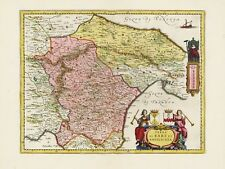 Old Vintage Apulia Region Italy decorative map Blaeu ca. 1655