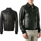 ★Giacca Giubbotto Uomo in di PELLE 100% Men Leather Jacket Veste Homme Cuir R25a