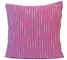 Lilac Pink White Stripe Cushion Covers 40cm Sofa Scatter Soft Cotton Washable