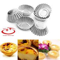 10 pcs/set Mini egg tart Molds Shell Cupcake Cake Tin Baking Tool Muffin Steel