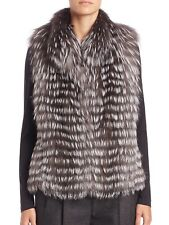 $1995.00 NWOT Michael Kors Neiman Marcus Silver Fox Fur Vest Medium M NEW